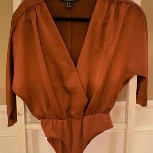 Forever 21 Contemporary Satin Bodysuit XS